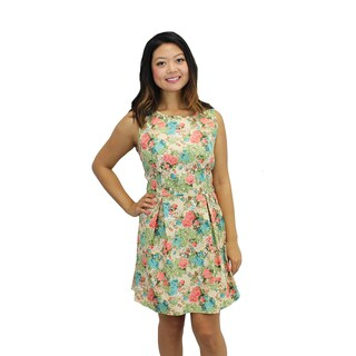 Relished Women's Beige Delicate Blossoms Dress