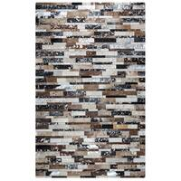Rizzy Home Cumberland Pass CP9329 Leather Colored-Blocked Accent Rug - 3' x 5'
