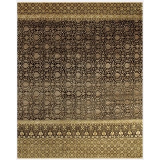 Grand Bazaar Hand-knotted Wool and Art Silk Russell Rug in Raisin (4' x 6')