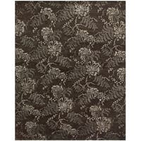 Grand Bazaar Hand-knotted Wool and Viscose Dayuan Rug in Brown (8'6 x 11'6) - 8'6 x 11'6