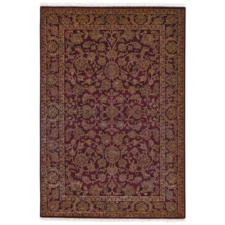 Grand Bazaar Hand-knotted Wool and Art Silk Armitage Rug (8'6 x 11'6)