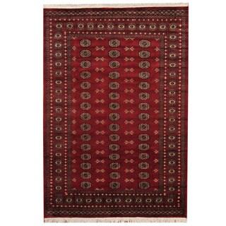 Herat Oriental Pakistani Hand-knotted Prince Bokhara Wool Rug (5'8 x 8'2)