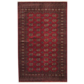Herat Oriental Pakistani Hand-knotted Prince Bokhara Wool Rug (5'2 x 8'5)