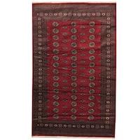 Handmade Herat Oriental Pakistani Prince Bokhara Wool Rug (Pakistan) - 5'2 x 8'4