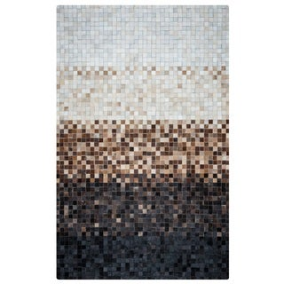 Rizzy Home Cumberland Pass CP9341 Leather Color-Blocked Area Rug (8' x 10')