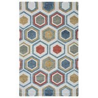 Rizzy Home Lancaster Collection LS9575 Area Rug - Multi-color - 5' x 8'