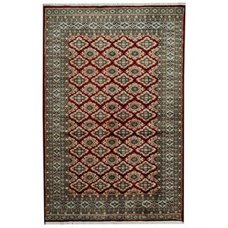 Herat Oriental Pakistani Hand-knotted Prince Bokhara Wool Rug (4'2 x 6'5)