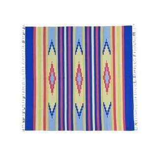 Square Design Flat Weave Hand-woven Killim Rug (6' x 6'1)
