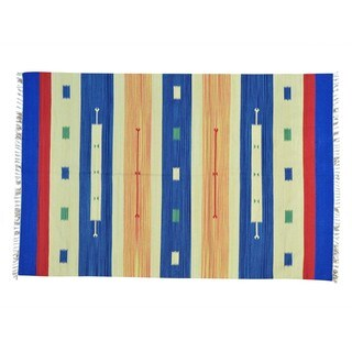 Design Flat Weave Hand-woven Killim Oriental Rug (6' x 9')