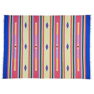Hand-woven Flat Weave Killim Southwest Design Oriental Rug (9' x 12'1)