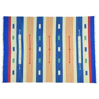 Hand-woven Flat Weave Killim Design Oriental Rug (8'10 x 12'2)