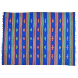 Flat Weave Hand-woven Killim Southwest Design Oriental Rug (9' x 12'1)