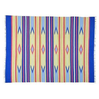 Southwest Design Flat Weave Hand-woven Killim Rug (8'10 x 12')
