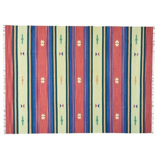 Flat Weave Hand-woven Killim Design Oriental Rug (8'10 x 12'2)