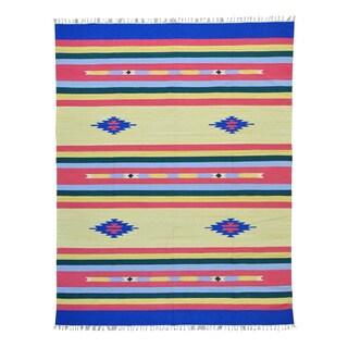 Flat Weave Hand-woven Killim Southwest Design Rug (8'1 x 10'1)
