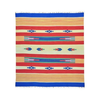 Flat Weave Killim Hand-woven Design Rug (9'10 x 10'8)
