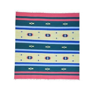 Handmade Design Flat Weave Killim Rug (9'10 x 10'3)