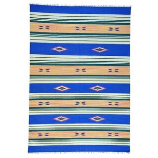 Wool Hand-woven Design Flat Weave Killim Rug (10' x 14'5)