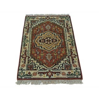 Wool Serapi Heriz Handmade Tribal Design Oriental Rug (2' x 3')