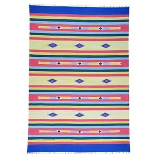 Handmade Killim Southwest Design Flat Weave Wool Rug (10' x 14'5)