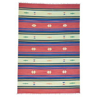 Flat Weave Killim Handmade Southwest Design Rug (10' x 14'5)