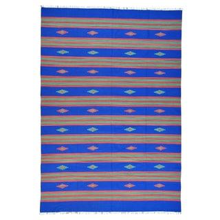 Flat Weave Killim Handmade Southwest Design Rug (10' x 14'2)