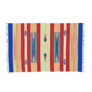 Hand-woven Flat Weave Killim Oriental Design Rug (4' x 6')