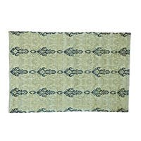 Wool Ikat Design Hand-knotted Oriental Rug (5'10 x 8'7)