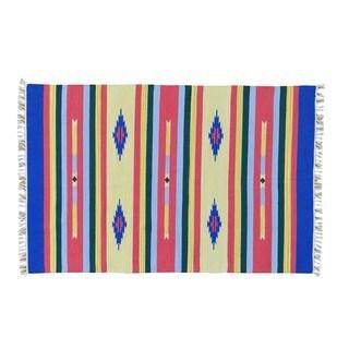 Southwest Design Flat Weave Killim Hand-woven Oriental Rug (4' x 6')