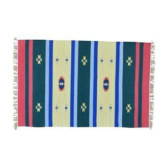 Hand-woven Design Flat Weave Killim Oriental Rug (4' x 6')