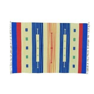 Flat Weave Killim Hand-woven Design Oriental Rug (4' x 6')
