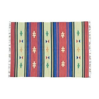 Flat Weave Hand-woven Reversible Kilim Design Rug (5' x 7'1)