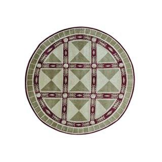 Wool Nepali Versace Design Round Handmade Oriental Rug (8' x 8')
