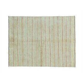 Wool Peshawar Gabbeh Hand-knotted Oriental Rug (4'1 x 5'5)
