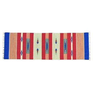 Hand-woven Flat Weave Killim Design Runner Rug (2'7 x 8')
