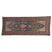 Gallery Size Antique Persian Kurdish Bidjar Handmade Rug