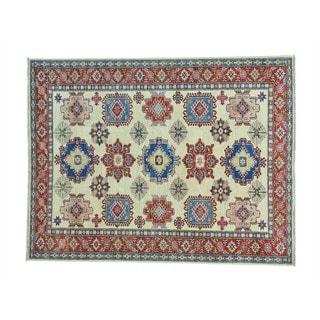Tribal Design Kazak Wool Hand-knotted Oriental Rug (5'10 x 7'6)