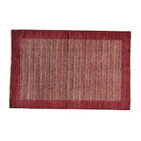 Wool Peshawar Gabbeh Hand-knotted Oriental Rug (4' x 6'1)