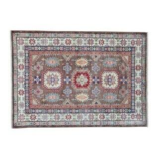 Wool Tribal Design Super Kazak Handmade Oriental Rug (4' x 5'8)