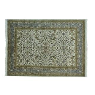 New Zealand Wool Kashan 300 KPSI Hand-knotted Oriental Rug (5'6 x 7'6)