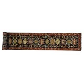Wool Karajeh Hand-knotted Oriental XL Runner Rug (2'8 x 19'10)