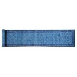 Mahi Wool and Silk Tabriz Handmade Oriental XL Runner Rug (2'9 x 15'5)