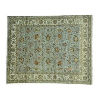 Wool Dense Weave Tabriz 300 KPSI Hand-knotted Rug (7'10 x 9'9)
