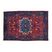 Wool Persian Nahavand Handmade Oriental Rug - 4'7 x 6'10