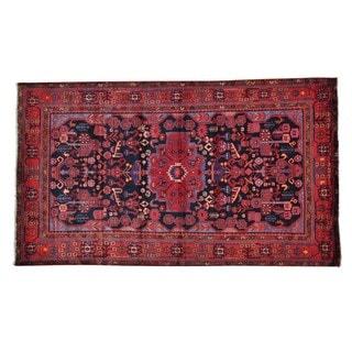 Wool Persian Nahavand Full Pile Handmade Oriental Rug (5'4 x 9'3)