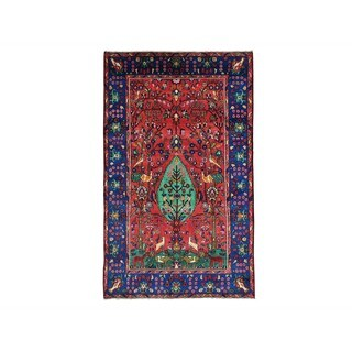 Wool Persian Nahavand Pictorial Handmade Oriental Rug (5' x 8'2)
