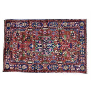 Wool Hand-knotted Persian Nahavand Oriental Rug (5'1 x 8')
