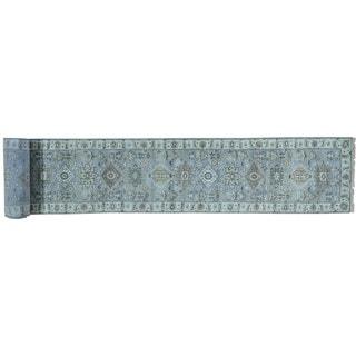 Silver Wash Karajeh Hand-knotted Oriental XL Runner Rug (2'6 x 19'10)