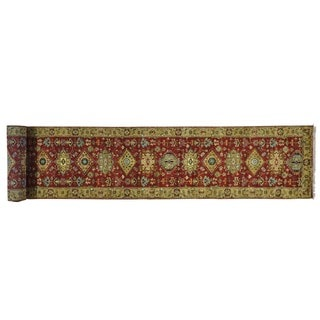 Rust Red Karajeh Hand-knotted Oriental XL Runner Rug (2'6 x 17'9)