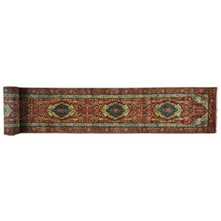 Hand-knotted Antiqued Heriz Recreation XL Runner Rug (2'5 x 21'10)